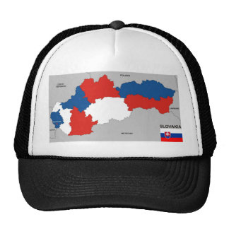 slovakia country political map flag trucker hat