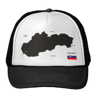 slovakia country political map flag hat