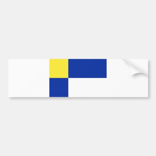 slovakia county Bratislavs flag region blue yellow Bumper Stickers