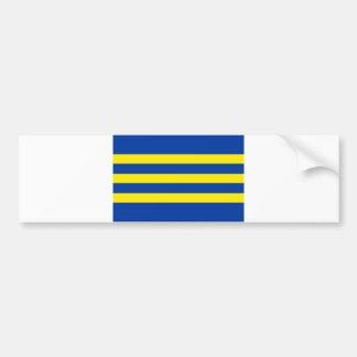 slovakia county Trnavsky flag region Bumper Sticker