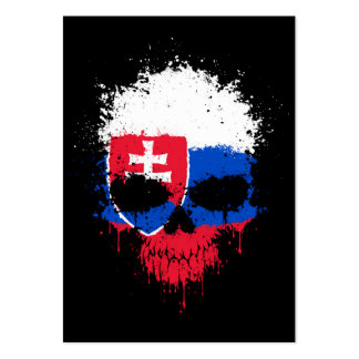Slovakia Dripping Splatter Skull Pack Of Chubby Business Cards
