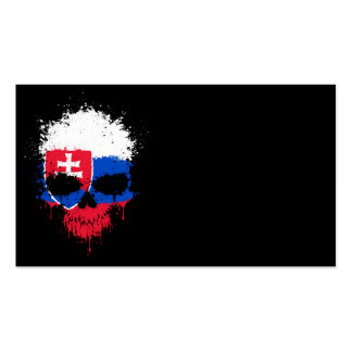 Slovakia Dripping Splatter Skull Pack Of Standard Business Cards