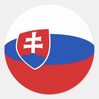 Slovakia Fisheye Flag Sticker
