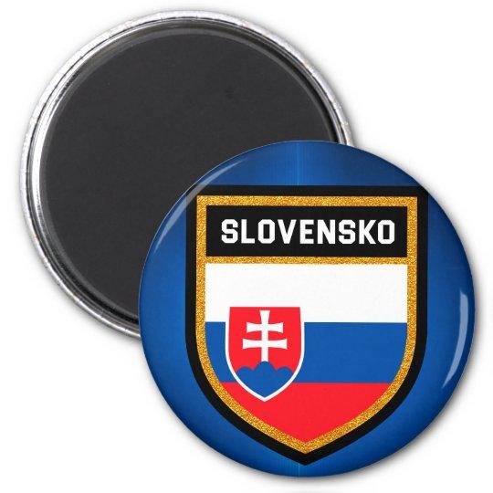 Slovakia Flag 6 Cm Round Magnet