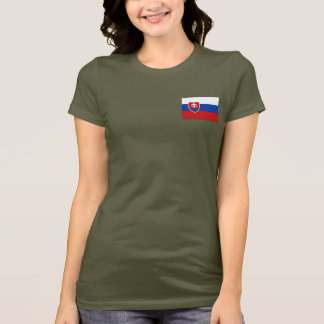 Slovakia Flag and Map dk T-Shirt
