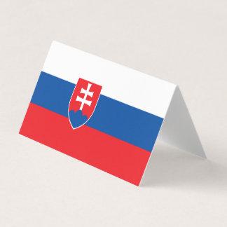 Slovakia Flag Business Card
