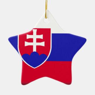 Slovakia Flag Christmas Ornament