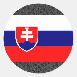 Slovakia Flag Classic Round Sticker
