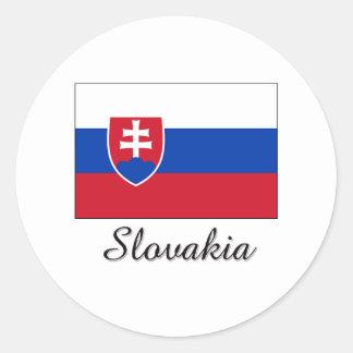 Slovakia Flag Design Classic Round Sticker