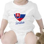 Slovakia Flag Heart Baby Creeper