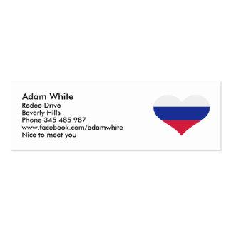 Slovakia flag heart business card template