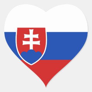 Slovakia Flag Heart Sticker