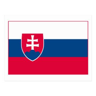 Slovakia Flag (light) Postcard