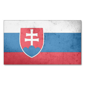 Slovakia Flag Magnetic Business Cards