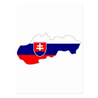 Slovakia flag map postcard