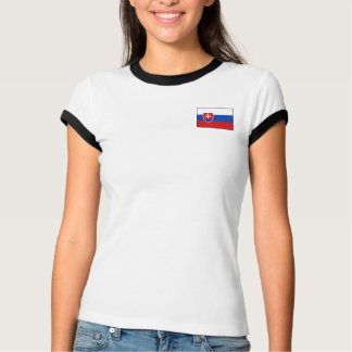 Slovakia Flag + Map T-Shirt