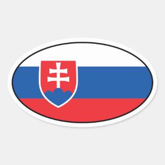 Slovakia Flag Oval Sticker