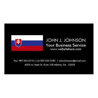 Slovakia Flag Pack Of Standard Business Cards