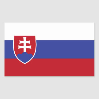 Slovakia Flag Rectangular Sticker