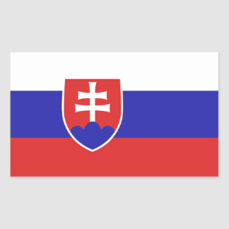 Slovakia Flag Rectangular Sticker