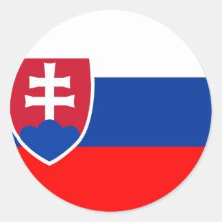 Slovakia flag round sticker