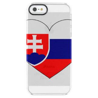 Slovakia Flag Simple Clear iPhone SE/5/5s Case