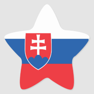 Slovakia Flag Star Sticker
