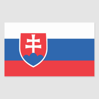 Slovakia Flag Stickers* Rectangular Sticker