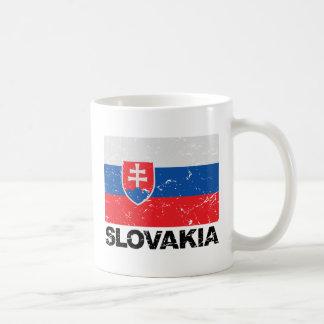 Slovakia Flag Vintage Coffee Mug