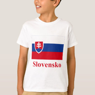 Slovakia Flag with Name in Slovak T-Shirt