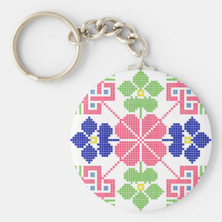 slovakia folk motif symbol traditional ethnic geom key ring