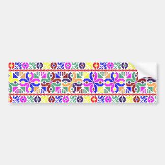 slovakia folk pattern motif traditional ethnic sym bumper sticker