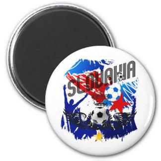 Slovakia Grunge soccer celebration gifts 6 Cm Round Magnet