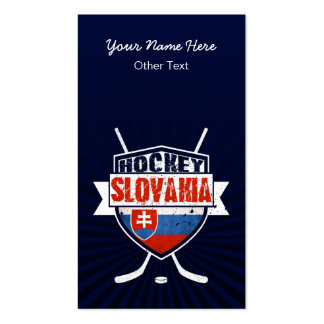 Slovakia Ice Hockey Customizable Business Cards