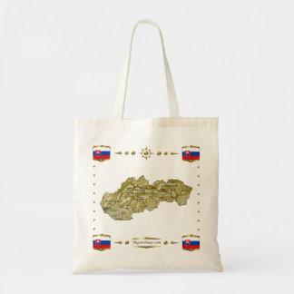 Slovakia Map + Flags Bag