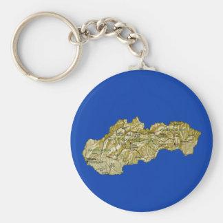 Slovakia Map Keychain