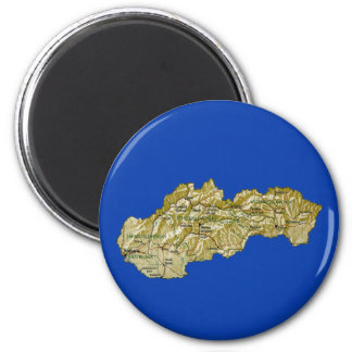 Slovakia Map Magnet