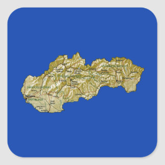 Slovakia Map Sticker
