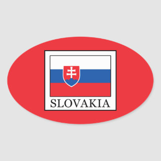 Slovakia Oval Sticker