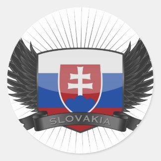 SLOVAKIA ROUND STICKER