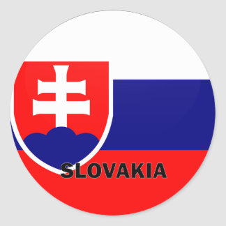 Slovakia Roundel quality Flag Classic Round Sticker