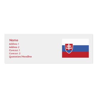 Slovakia - Skinny Business Card Templates