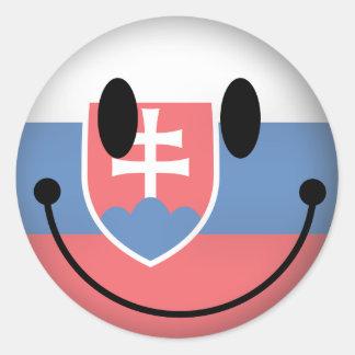 Slovakia Smiley Classic Round Sticker
