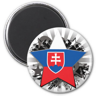 Slovakia Star Refrigerator Magnets
