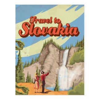 Slovakia Vintage Travel Poster Postcard