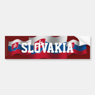 Slovakia Waving Flag Car Bumper Sticker