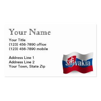 Slovakia Waving Flag Business Cards