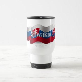 Slovakia Waving Flag Travel Mug