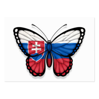 Slovakian Butterfly Flag Pack Of Chubby Business Cards