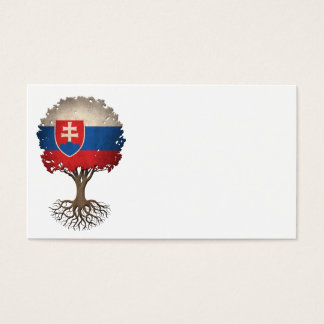 Slovakian Flag Tree of Life Customizable Business Card